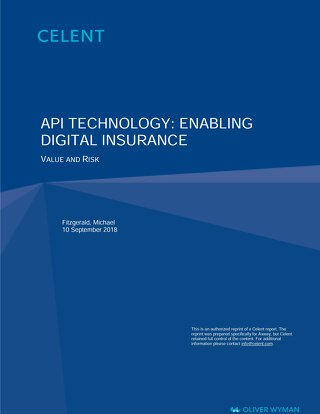 API Technology: Enabling Digital Insurance Value and Risk